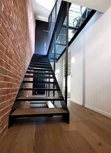 escalier metal et bois sof architectes sof architectes