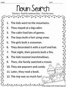 1st grade fantabulous fake snow and freebies school ideas nouns worksheet english grammar