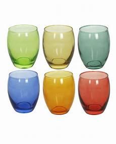 bicchieri tognana confezione di 6 bicchieri colorati tognana in vetro 400 cc