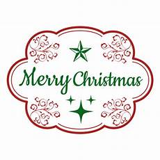 merry christmas decorative label transparent png svg vector
