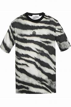 t shirt with a zebra motif island vitkac shop