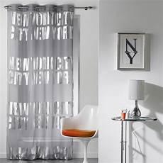 rideau voilage quot new york silver quot 140x260cm gris