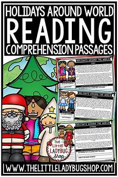 winter reading comprehension worksheets 3rd grade 20182 winter holidays around the world reading comprehension passages 3rd 4th grade reading