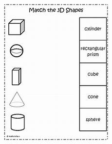 3d shapes worksheet early years 1107 12 best images of 3d shape matching worksheet 3d shapes worksheets free math worksheet grade
