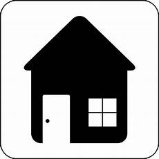 House Icon Black And White Clip Library