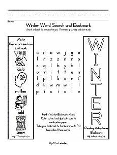 winter worksheets elementary 19988 winter word search for preschool kindergarten and early elementary