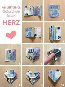 herz aus geld tutorial anleitung geld falten herzen diy