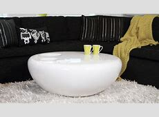 Round Coffee Table   White High Gloss Modern, Curvy and Funky