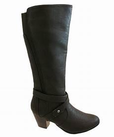 weite schuhe damen womens comfort plus wide fit knee calf boots black