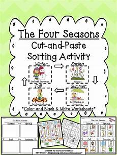 seasons worksheets cut and paste 14760 21 best images about four seasons unit study on