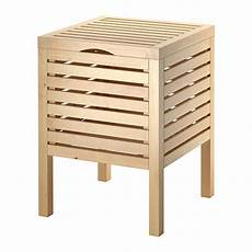 Ikea Molger Hocker Mit Aufbewahrung Holz Schemel