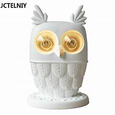 owl l ofhead child real cartoon modern brief ti vedo edison light bulb personality table