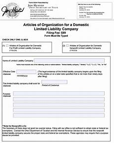 how to start a domestic llc in ohio articles of organization