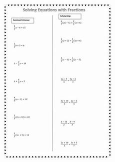 solving equations with fractions by chuiyl teaching resources