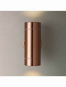john lewis sabrebeam outdoor double wall light copper at john lewis partners