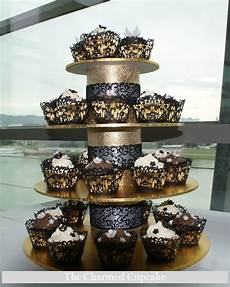 black and gold wedding cupcakes the charmed cupcake