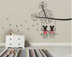 Mickey And Minnie Wall Stickers mickey mouse minnie tree swing wall sticker wall decal