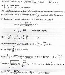 elektrotechnik kennkreisfrequenz l und c studium