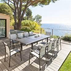 table de jardin extensible azua effet bois hesp 233 ride 10 places