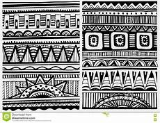 Afrikanische Muster Malvorlagen Xing Satz Afrikanische Muster Vektor Abbildung Illustration