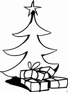 weihnachtsbaum mit geschenken ausmalbild malvorlage comics