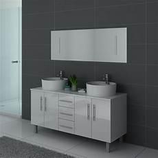 meuble de salle de bain blanc 2 vasques meuble de salle