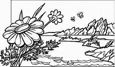 gaensebluemchen 3 ausmalbild malvorlage landschaften