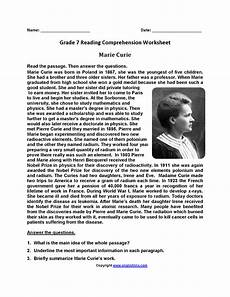 poetry comprehension worksheets for 7th grade 25251 curie seventh grade reading worksheets with images reading worksheets reading