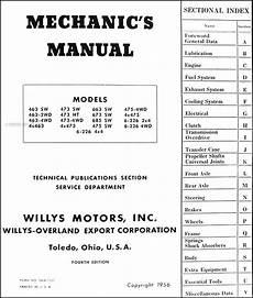 1948 jeep wiring diagram 1948 1956 willys utility truck station wagon repair shop manual original