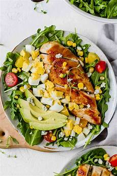 healthy chicken cobb salad recipe jar of lemons
