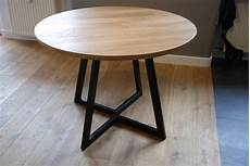 extendable table modern design steel and timber in
