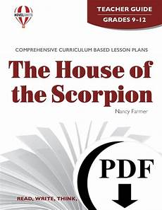house of the scorpion lesson plans the house of the scorpion novel unit teacher guides