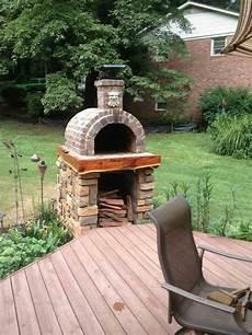 Pizzaofen Bauen Ziegel Oval Schornstein Pizza Oven