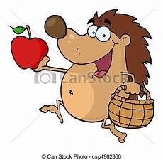 Ausmalbilder Igel Mit Apfel Happy Igel L 228 Uft Mit Apfel Fr 246 Hliches Igel Mit Apfel Und