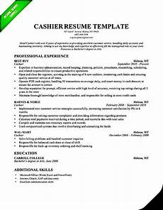 cashier resume template professional free sles