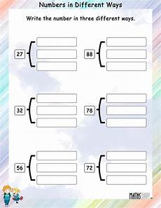 write numbers in different ways math worksheets mathsdiary com