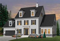 colonial style house plan 4964 chisholm