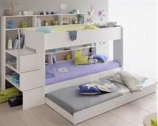 kinderzimmer mit hochbett komplett kinder doppelbett hochbett etagenbett bipop von parisot