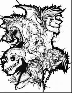 scary coloring pages at getcolorings free