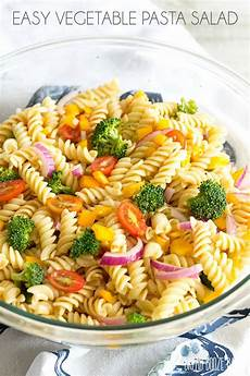 easy vegetable pasta salad with italian dressing