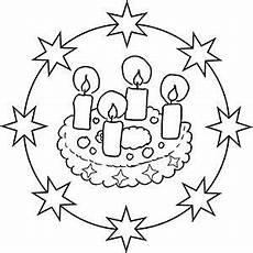 Ausmalbilder Weihnachten U3 Adventskranz Mandala Ausmalbild Mit Bildern