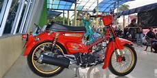Jual Honda C70 Modif by Modifikasi Honda C70 Sentuhan Inos Gembel Painting
