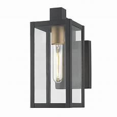 modern outdoor wall light black 11 75 inches tall 1837 gdbk destination lighting