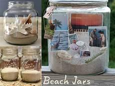Gläser Dekorieren Mit Sand - diy jars with sand seashells for lasting memories