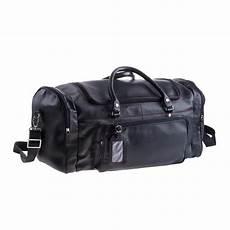 grand sac de voyage cuir noir avec compartiments pour