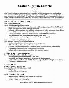 cashier resume sle resume companion