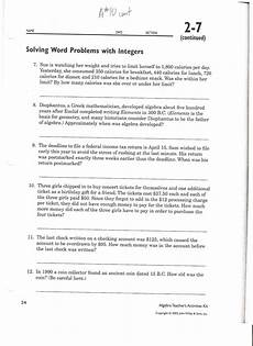 subtracting integers word problems worksheet photo worksheet mogenk paper works