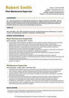 How To Become Apartment Maintenance Technician by Maintenance Supervisor Resume Sles Qwikresume