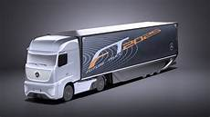mercedes benz ft 2025 future truck with trailer vray 3d