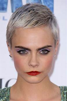 Cara Delevingne Silver Pixie Cut Hairstyle